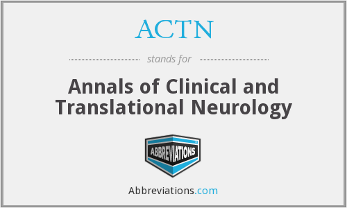 ACTN - Annals of Clinical and Translational Neurology