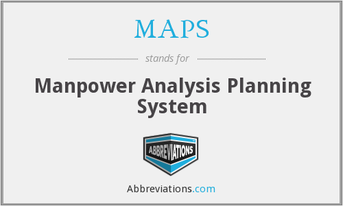 MAPS - Manpower Analysis Planning System