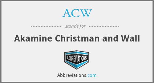 ACW - Akamine Christman and Wall