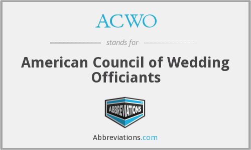 What does ACWO stand for?