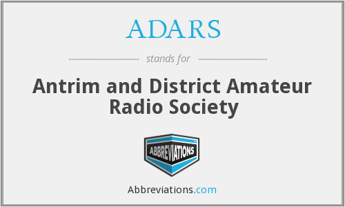 ADARS - Antrim and District Amateur Radio Society