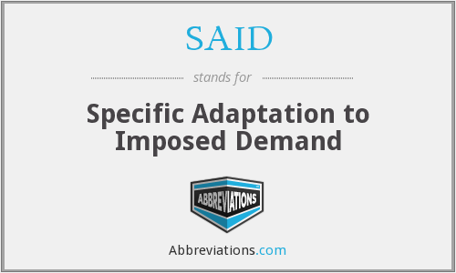SAID - Specific Adaptation to Imposed Demand