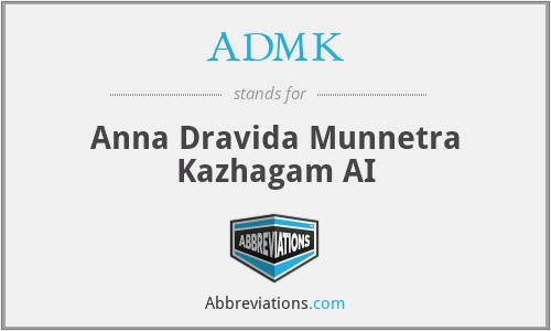 ADMK - Anna Dravida Munnetra Kazhagam AI