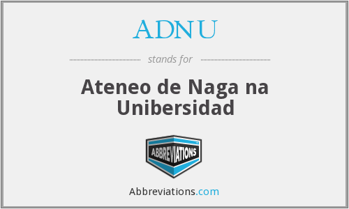 What does ADNU stand for?