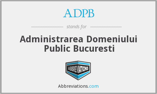 What does ADPB stand for?