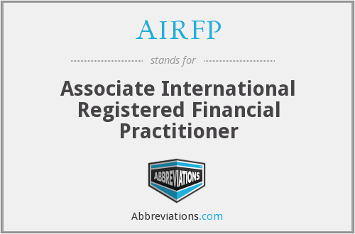 What does AIRFP stand for?
