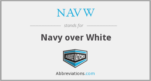NAVW - Navy over White