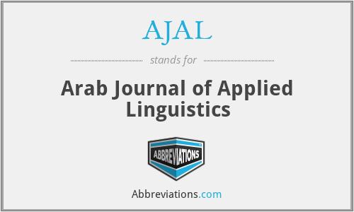 AJAL - Arab Journal of Applied Linguistics