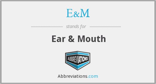 What does ear stand for?