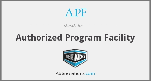 APF - Authorized Program Facility