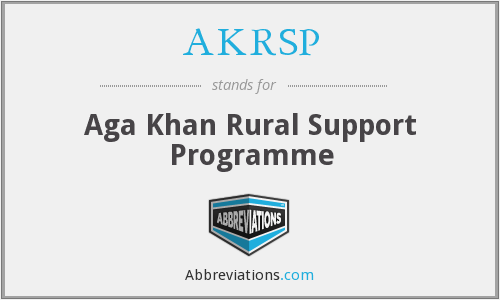 AKRSP - Aga Khan Rural Support Programme