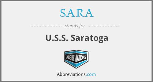 SARA - U.S.S. Saratoga