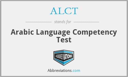 ALCT - Arabic Language Competency Test