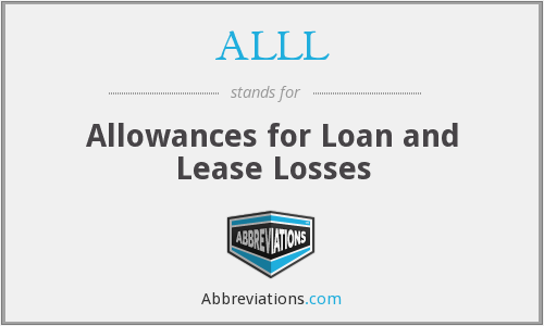 ALLL - Allowances for Loan and Lease Losses