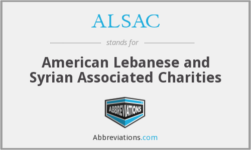 What does ALSAC stand for?