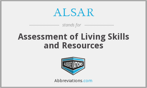What does ALSAR stand for?