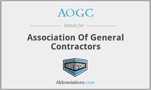AOGC - Association Of General Contractors