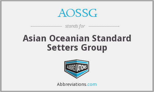 What does AOSSG stand for?