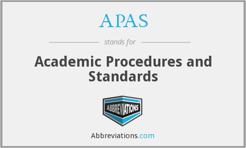 APAS - Academic Procedures and Standards