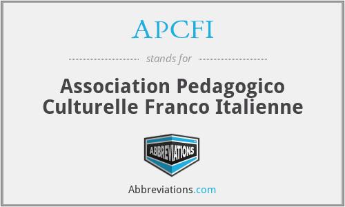 APCFI - Association Pedagogico Culturelle Franco Italienne