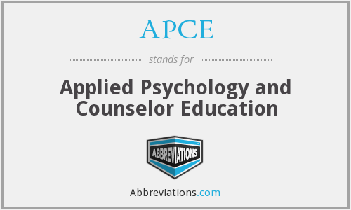 APCE - Applied Psychology and Counselor Education