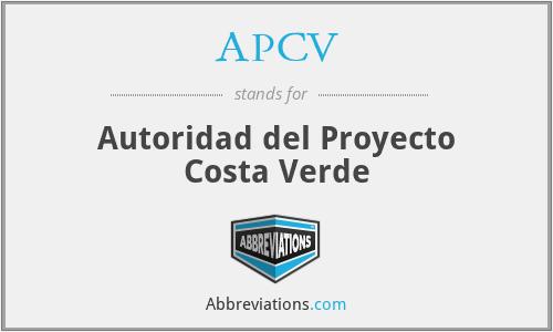APCV - Autoridad del Proyecto Costa Verde