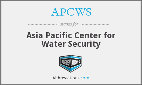 APCWS - Asia Pacific Center for Water Security