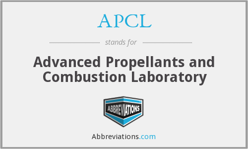 APCL - Advanced Propellants and Combustion Laboratory