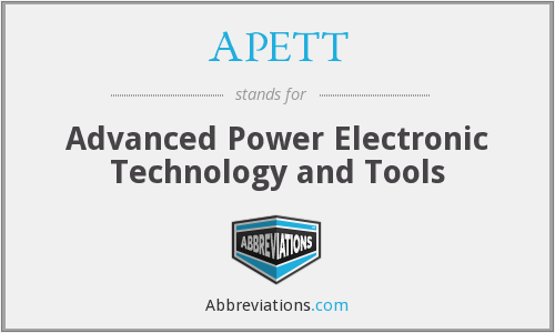 What does APETT stand for?