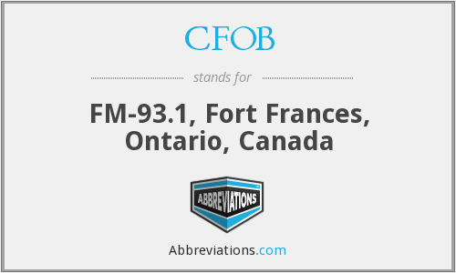 What does CFOB stand for?