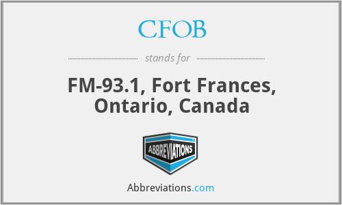 CFOB - FM-93.1, Fort Frances, Ontario, Canada