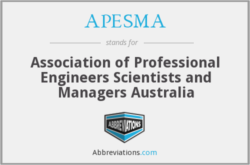 What does APESMA stand for?
