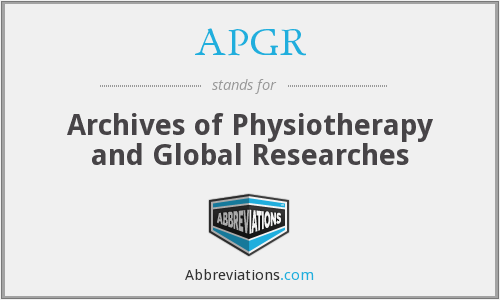 APGR - Archives of Physiotherapy and Global Researches