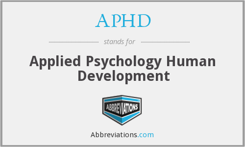 APHD - Applied Psychology Human Development