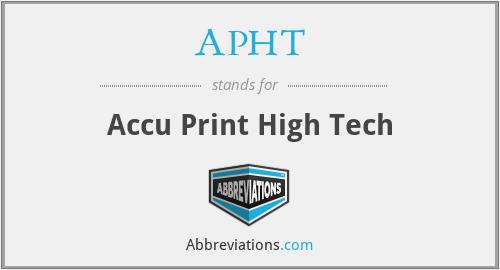 APHT - Accu Print High Tech