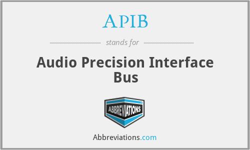 APIB - Audio Precision Interface Bus