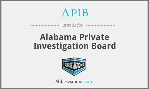APIB - Alabama Private Investigation Board
