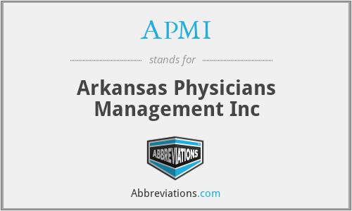 APMI - Arkansas Physicians Management Inc