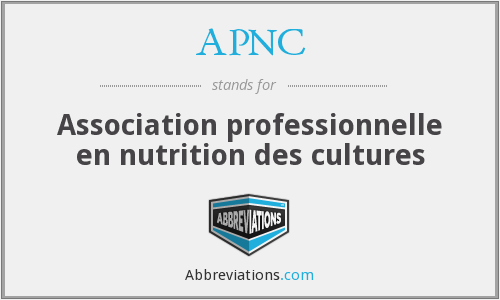 APNC - Association professionnelle en nutrition des cultures
