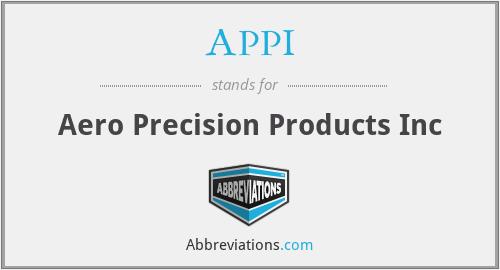 APPI - Aero Precision Products Inc