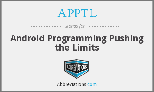 What does APPTL stand for?