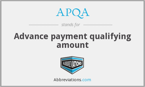 What does APQA stand for?
