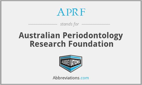 APRF - Australian Periodontology Research Foundation