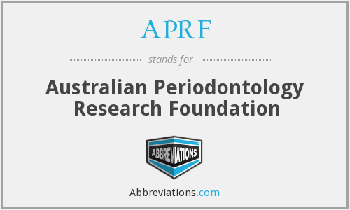 APRF - Australian Periodontology Research Foundation