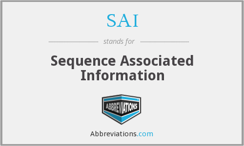 SAI - Sequence Associated Information
