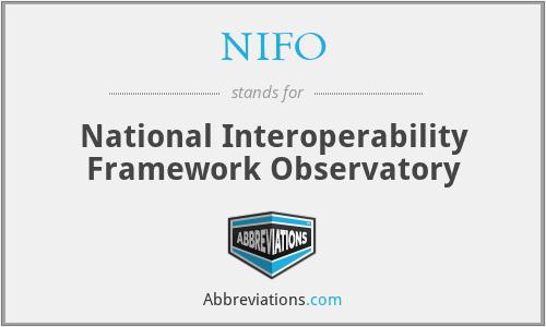 NIFO - National Interoperability Framework Observatory