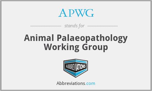 APWG - Animal Palaeopathology Working Group