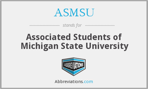 What does ASMSU stand for?