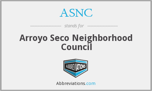 ASNC - Arroyo Seco Neighborhood Council