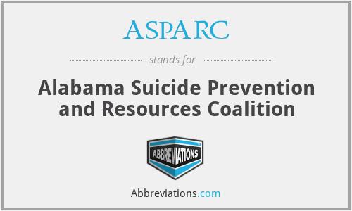 ASPARC - Alabama Suicide Prevention and Resources Coalition